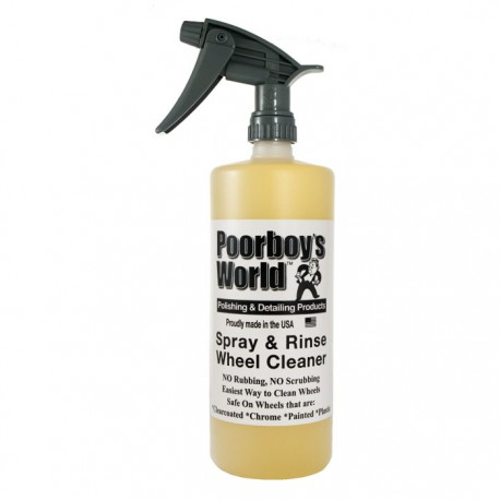 Poorboy's World - Nettoyant Jantes, Spray and Rinse Wheel Cleaner (946ml)
